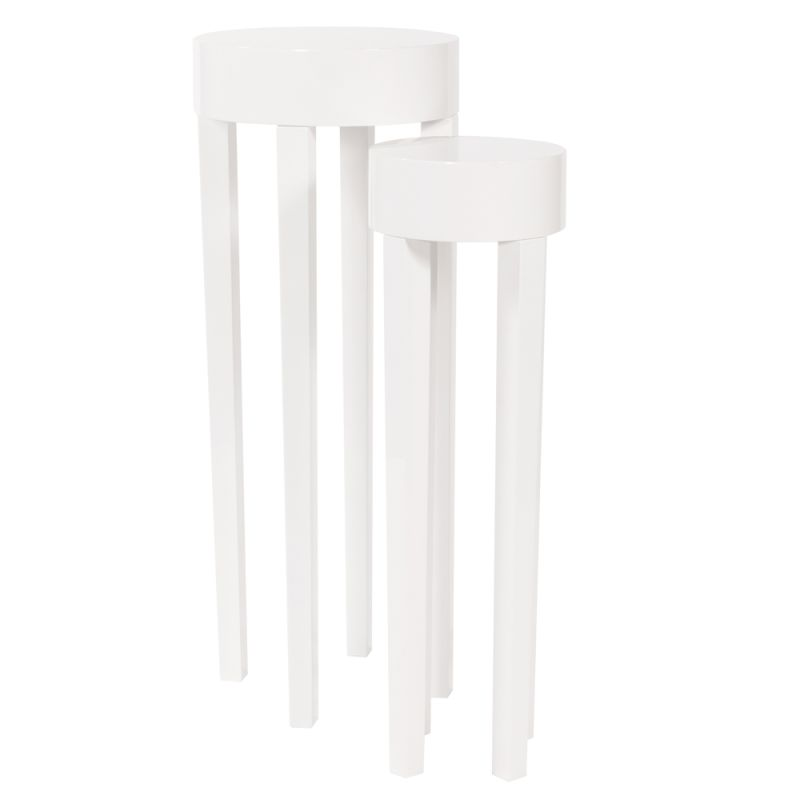 Howard Elliott Glossy White Stiletto Tables (Set of 2) Glossy White