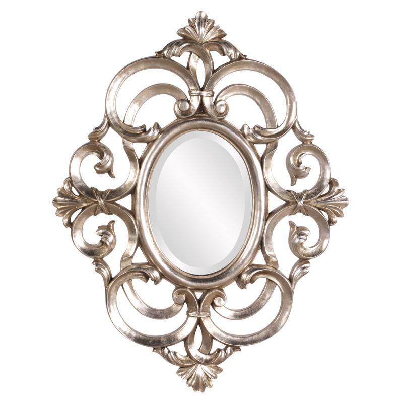 """Howard Elliott Antoinette Oval Mirror 34"""" x 26"""" Rectangular Mirror"""