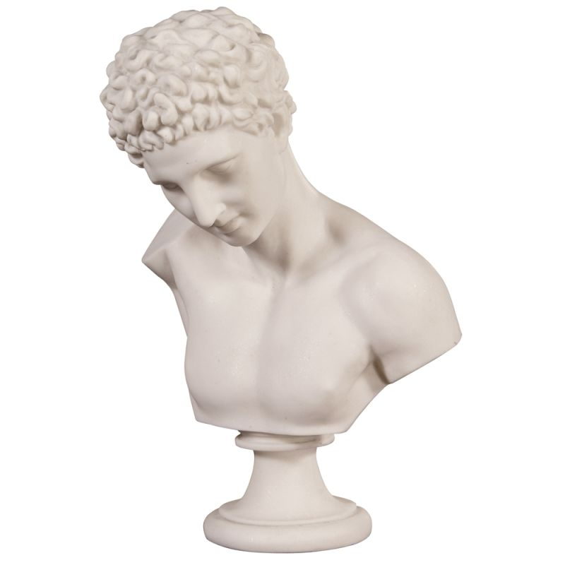 "Howard Elliott Classical Greek Bust Neo 20"" Tall Resin Greek Bust Faux"