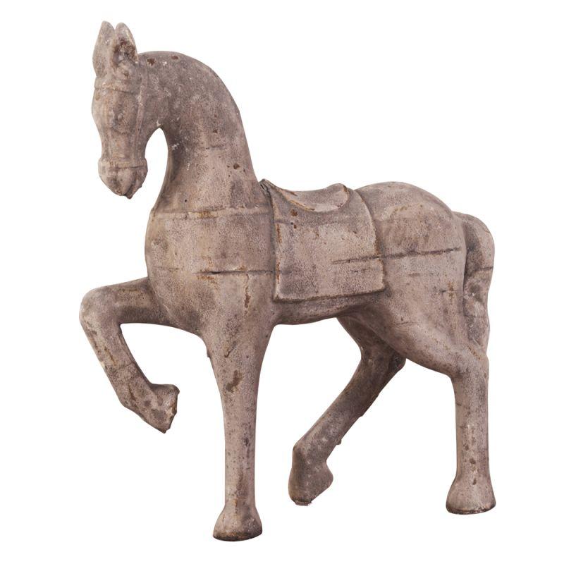 """Howard Elliott Old World Trotting Horse Sculpture 18"""" Tall Ceramic"""
