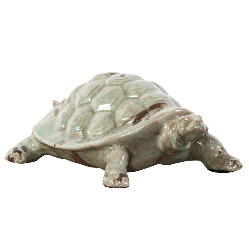"""Howard Elliott Rustic Turtle Ceramic Sculpture 5.5"""" Tall Ceramic"""