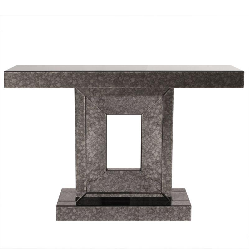 "Howard Elliott Atlas gray Antique Mirrored Console Table 47"" Wide"