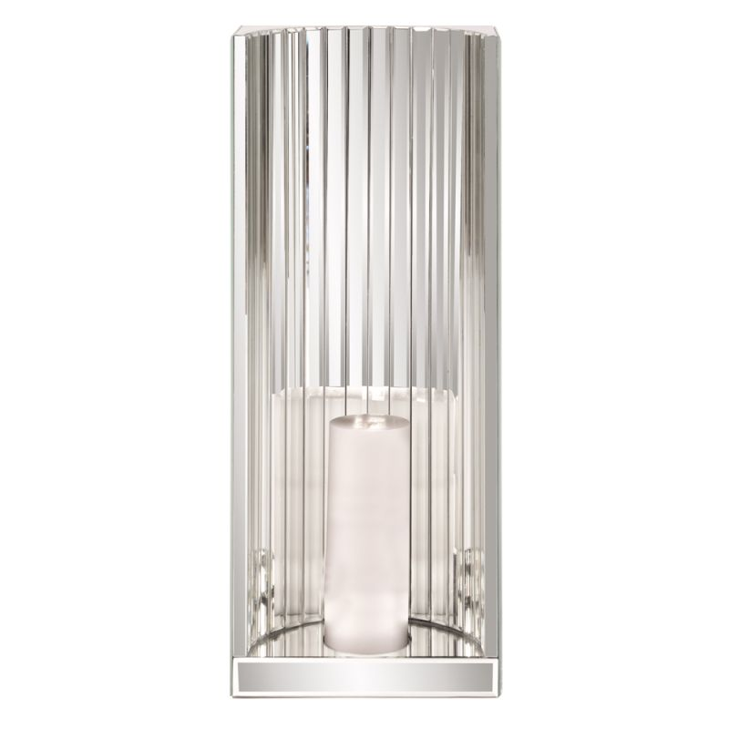 """Howard Elliott Faceted Mirror Wall Sconce 24"""" Tall Glass Candle Wall"""