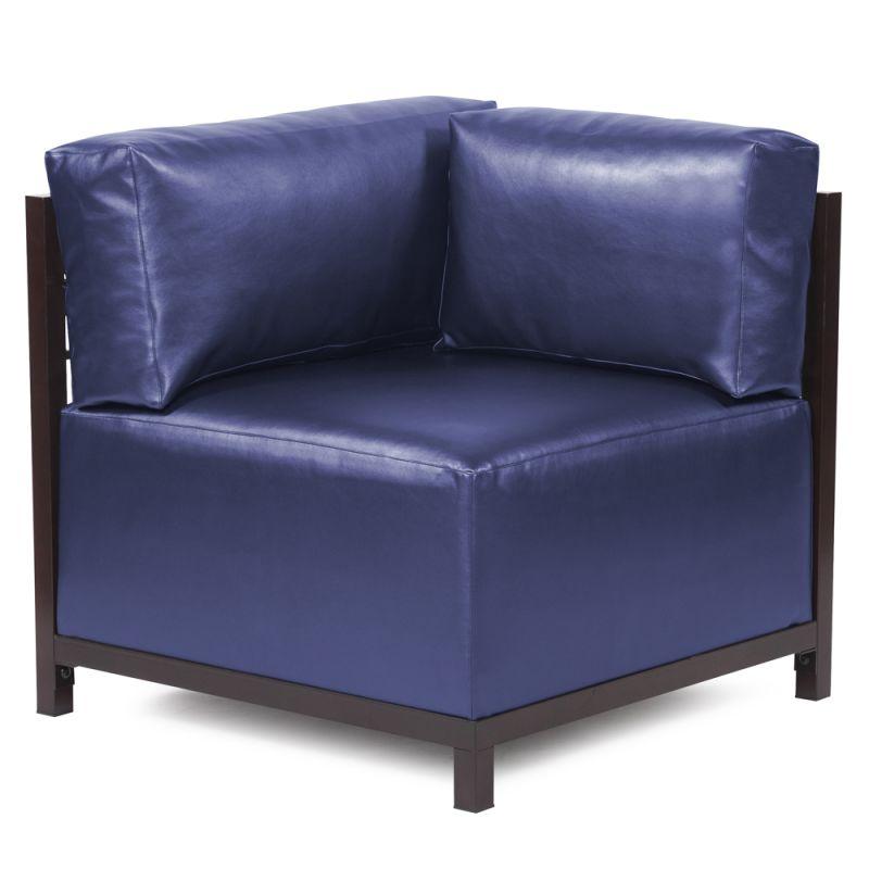 "Howard Elliott Shimmer Axis Corner Chair with Mahogany Frame 30"" Tall"