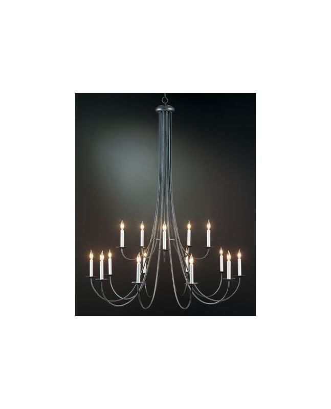 Hubbardton Forge 19104315LC Simple Lines 15 Light 2 Tier Candle Style
