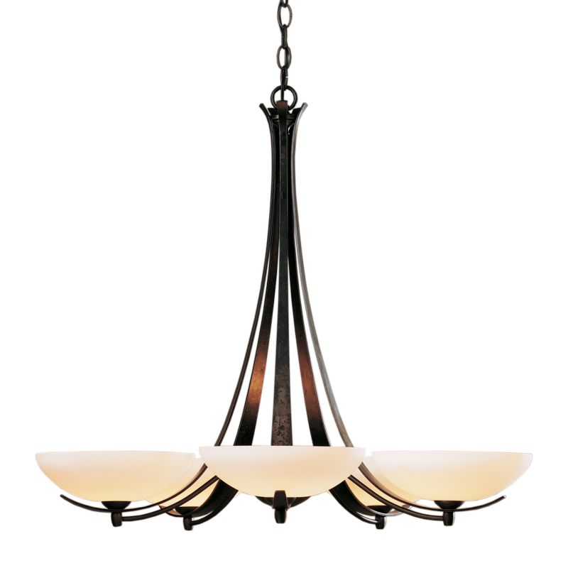 "Hubbardton Forge 101261 Aegis 5 Light 31"" Wide Chandelier with"