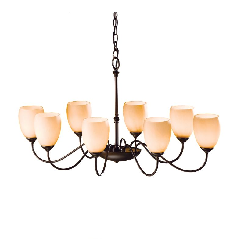 "Hubbardton Forge 101304 Oval 8 Light 22"" Wide Chandelier with"