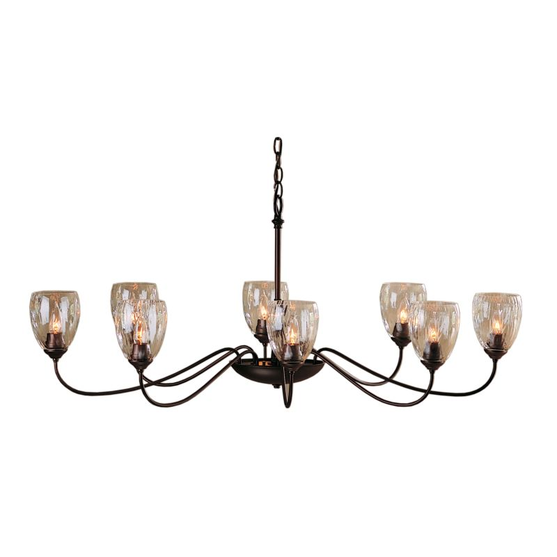 "Hubbardton Forge 101309 Oval 8 Light 28"" Wide Chandelier with Clear"