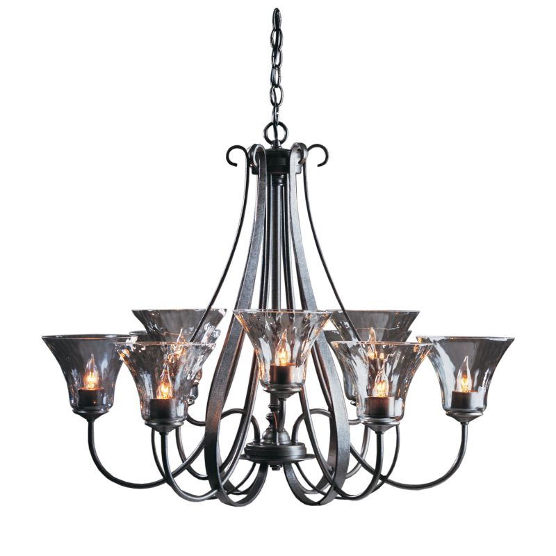 "Hubbardton Forge 101458 Sweeping Taper 9 Light 33"" Wide Chandelier"