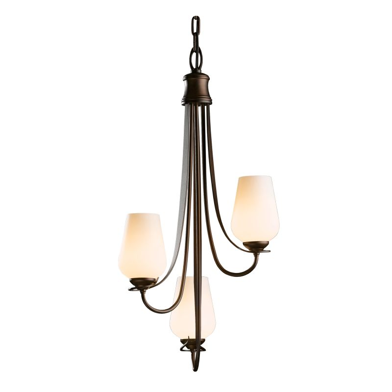 "Hubbardton Forge 103033 Flora 3 Light 16"" Wide Mini Chandelier with"