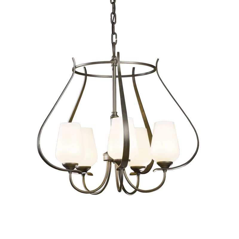 "Hubbardton Forge 103045 Flora 5 Light 22"" Wide Chandelier with"