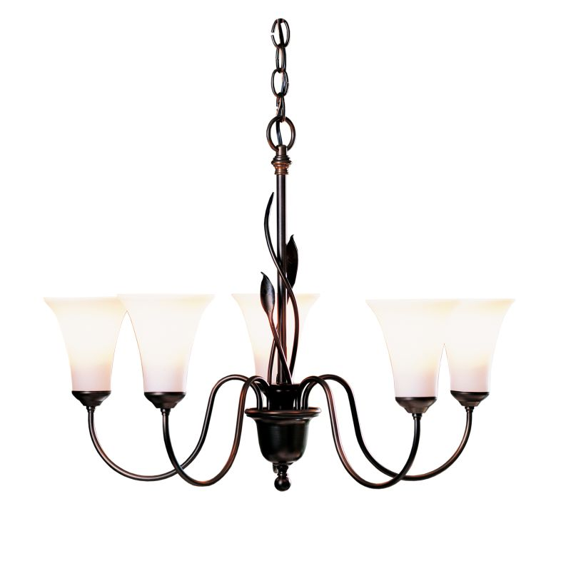 Hubbardton Forge 103052 Forged Leaves 5 Light 27&quote Wide Chandelier with