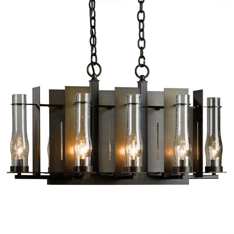 "Hubbardton Forge 103280 New Town 8 Light 30"" Wide Chandelier with"