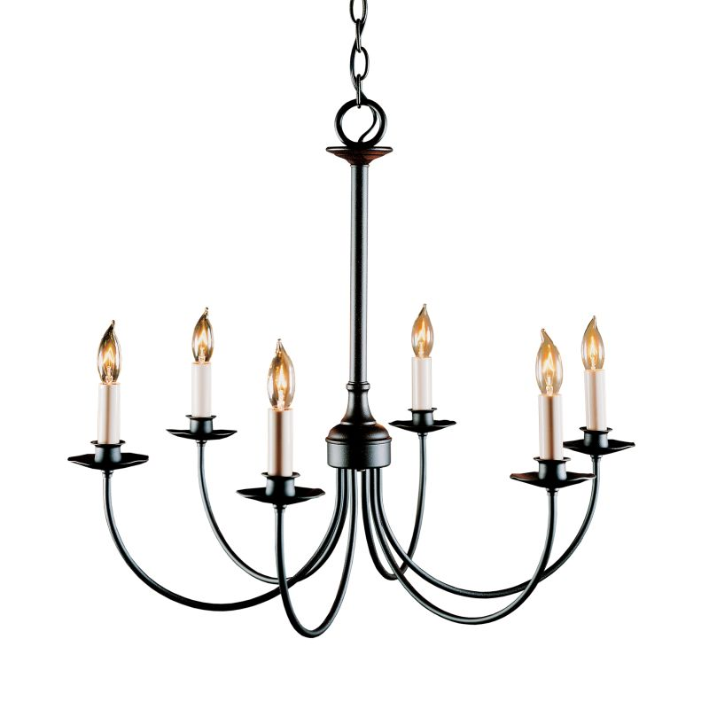 "Hubbardton Forge 107060 Simple Lines 6 Light 25"" Wide Candle Style"