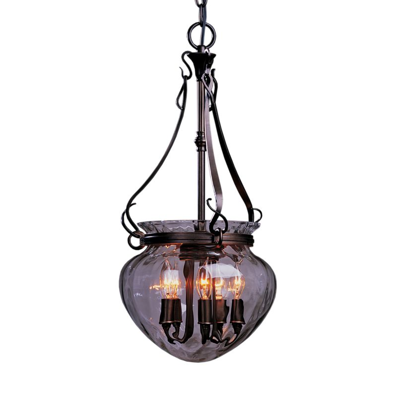 "Hubbardton Forge 121024 Acharn 5 Light 11"" Wide Pendant with Water"
