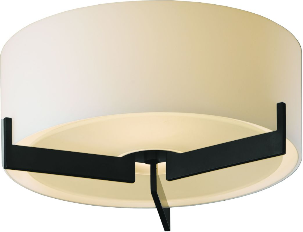 Hubbardton Forge 126401-10 Black Contemporary Axis Ceiling Light