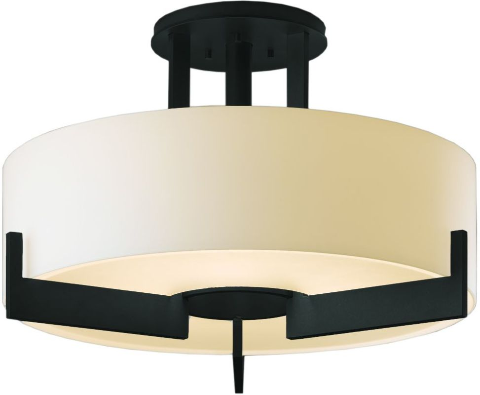 Hubbardton Forge 126403-10 Black Contemporary Axis Ceiling Light
