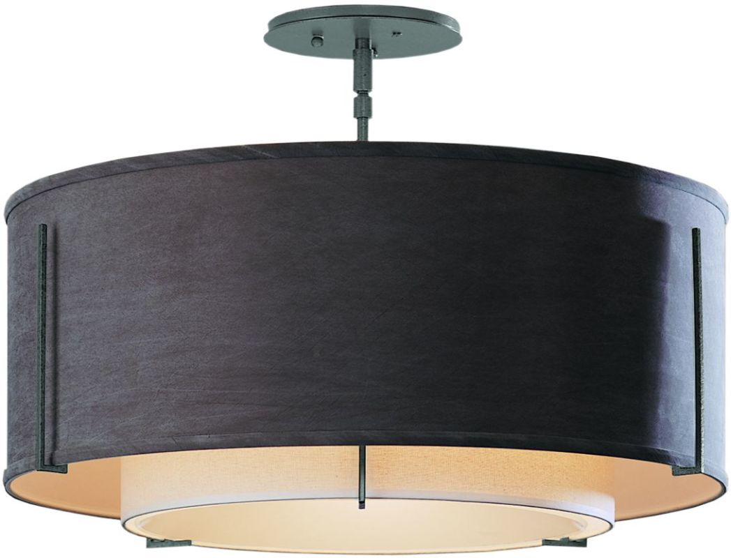 "Hubbardton Forge 126503 1 Light Semi-Flush Medium Ceiling Fixture from Sale $924.00 ITEM: bci1283404 ID#:126503-08 Product Features: Finish: Natural Iron , Light Direction: Down Lighting , Width: 22.9"" , Height: 15.3"" , Genre: Transitional , Bulb Type: Compact Fluorescent, Incandescent , Number of Bulbs: 3 , Fully covered under Hubbardton Forge warranty , Location Rating: Indoor Use :"