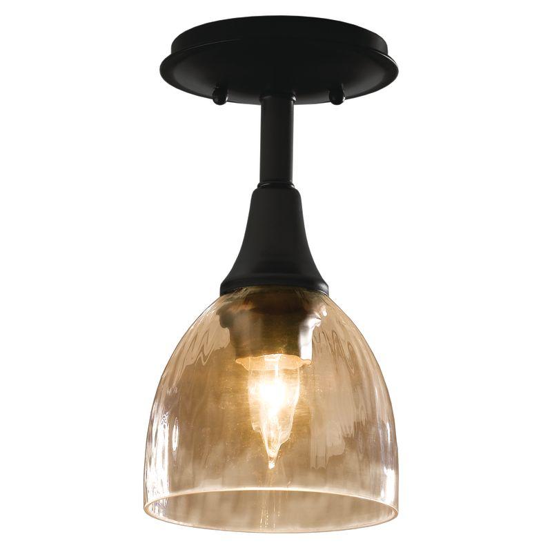 Hubbardton Forge 126703 1 Light Small Semi-Flush Ceiling Fixture Black
