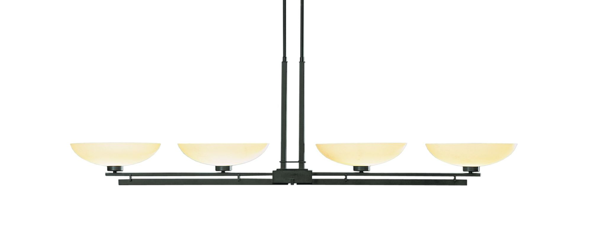 "Hubbardton Forge 132200 Trestle 4 Light 54"" Wide Adjustable Chandelier"