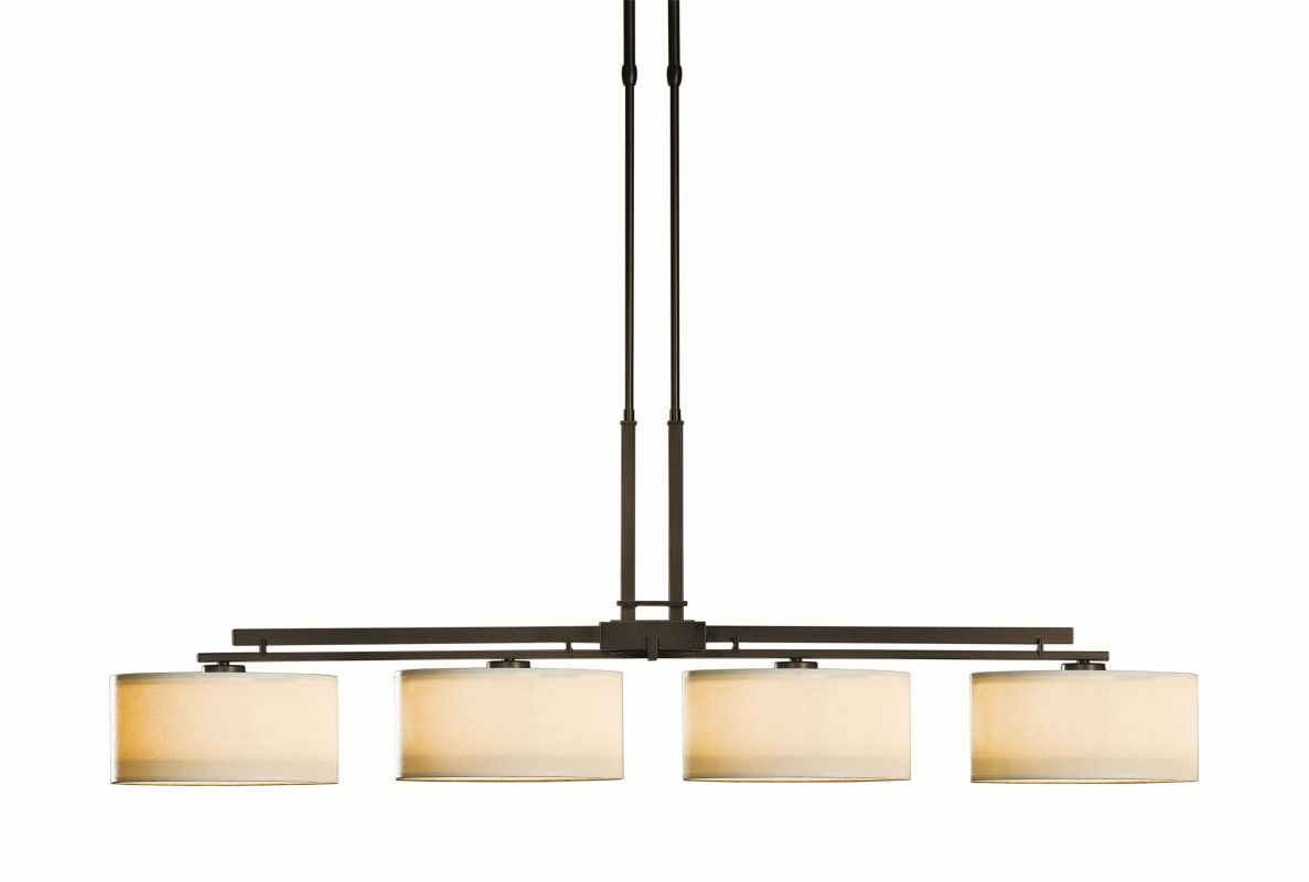 "Hubbardton Forge 132205 Trestle 4 Light 51"" Wide Adjustable Chandelier"