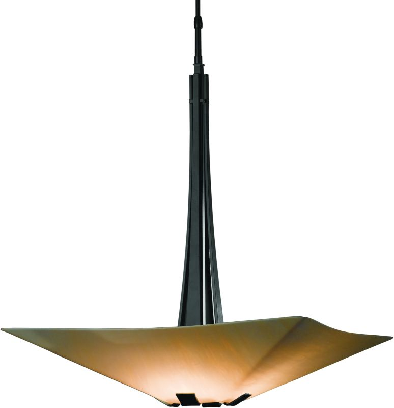 hubbardton forge 133255 10 black 4 light large pendant from the vortis