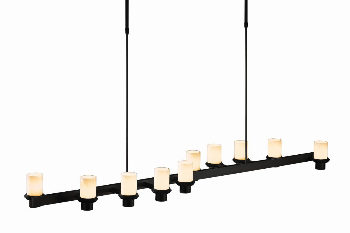 "Hubbardton Forge 134915 Staccato 10 Light 57"" Wide Adjustable Pillar"