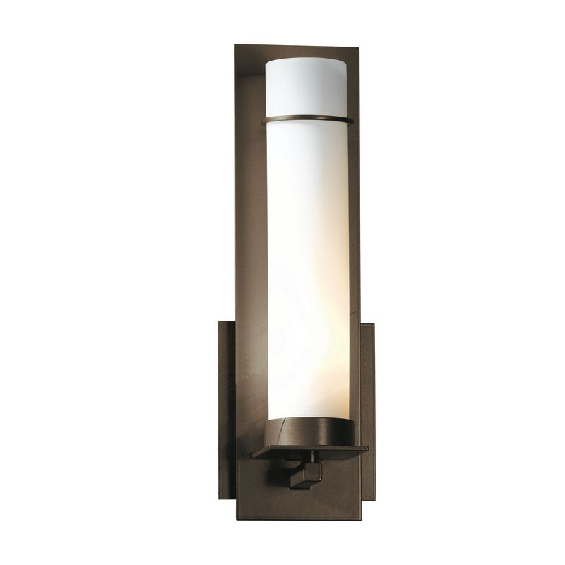 """Hubbardton Forge 204260 1 Light Wall Sconce from the New Town Sale $424.60 ITEM: bci1164000 ID#:204260-05 Product Features: Finish: Burnished Steel , Light Direction: Up Lighting , Width: 4.25"""" , Height: 12.6"""" , Genre: Rustic / Lodge , Bulb Type: Compact Fluorescent, Incandescent , Number of Bulbs: 1 , Fully covered under Hubbardton Forge warranty , Location Rating: Indoor Use :"""