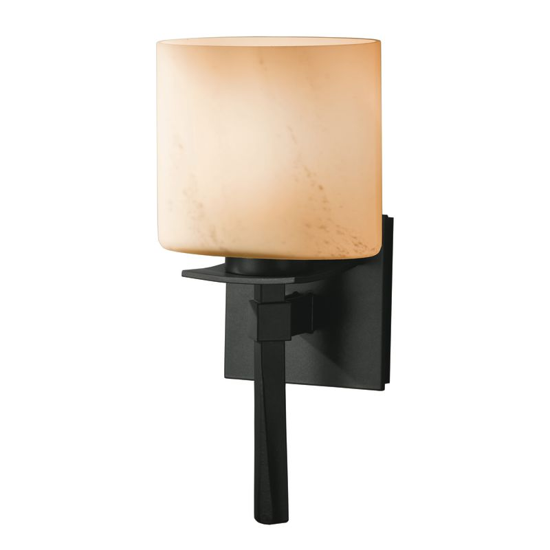 Hubbardton Forge 204820-10 Black 1 Light Direct Wire Wall Sconce from the Beacon Hall Collection ...