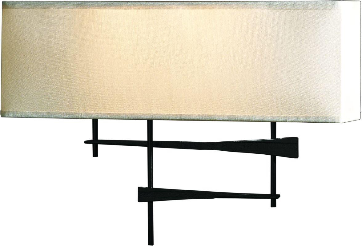 Hubbardton Forge 207675-10 Black Contemporary Cavaletti Wall Sconce