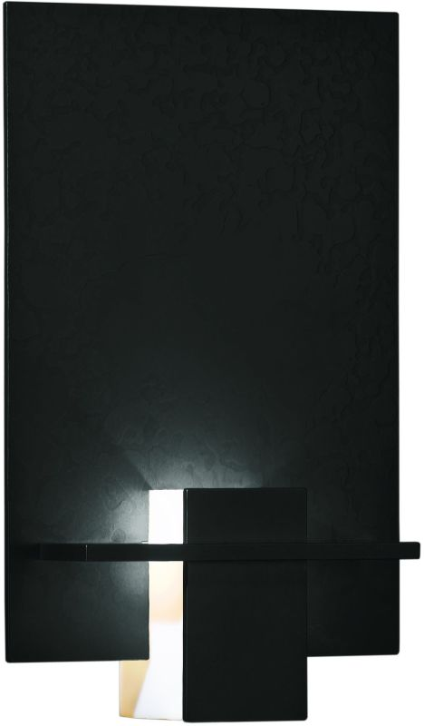 hubbardton forge 217510 10 black direct wire single light ambient