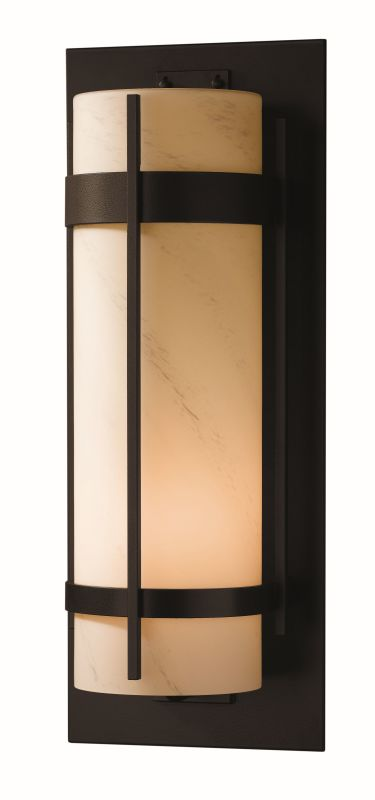 "Hubbardton Forge 305895 Banded Single Light 9"" Wide Outdoor Wall"