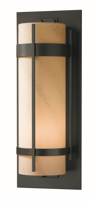 """Hubbardton Forge 305895 Banded Single Light 9"""" Wide Outdoor Wall"""