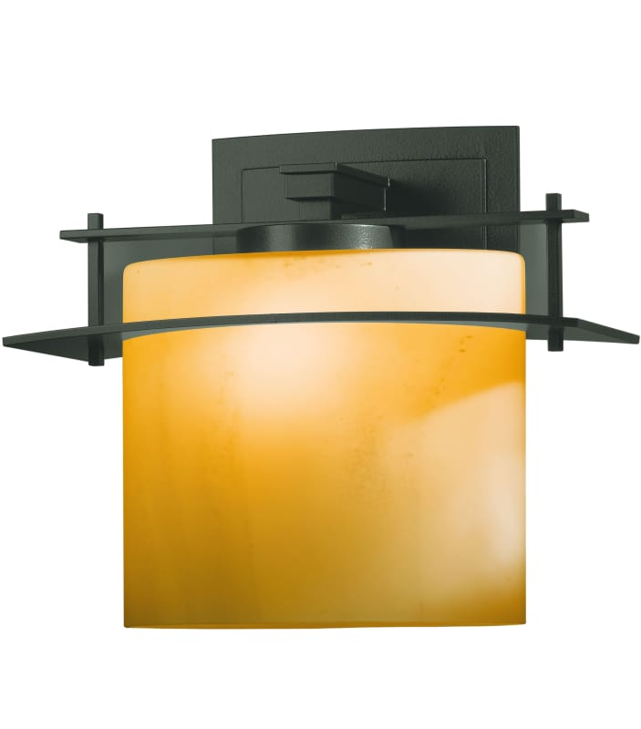 hubbardton forge 307530 08 pewter 1 light down light outdoor wall
