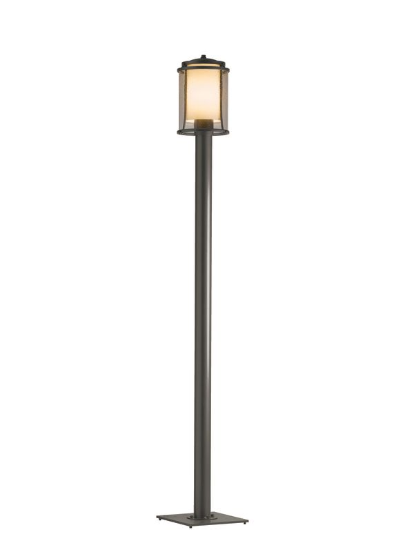 hubbardton forge 345610 08 pewter meridian 1 light outdoor post light