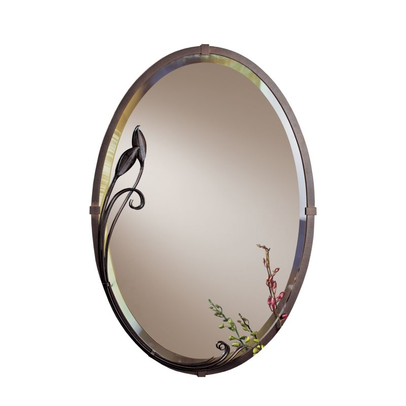 "Hubbardton Forge 710014 Oval 32"" x 22"" Beveled Forged Metal Mirror"