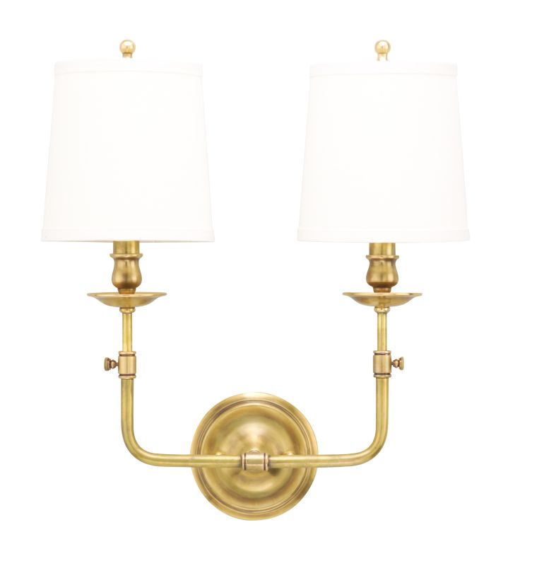 Hudson Valley 172-AGB Aged Brass Contemporary Logan Wall Sconce