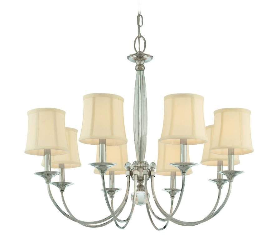 Hudson Valley Lighting 1818 Eight Light Chandelier from the Rockville