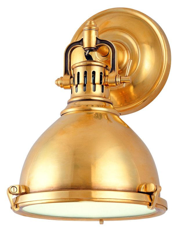 Hudson Valley 2209-AGB Aged Brass Industrial Pelham Wall Sconce