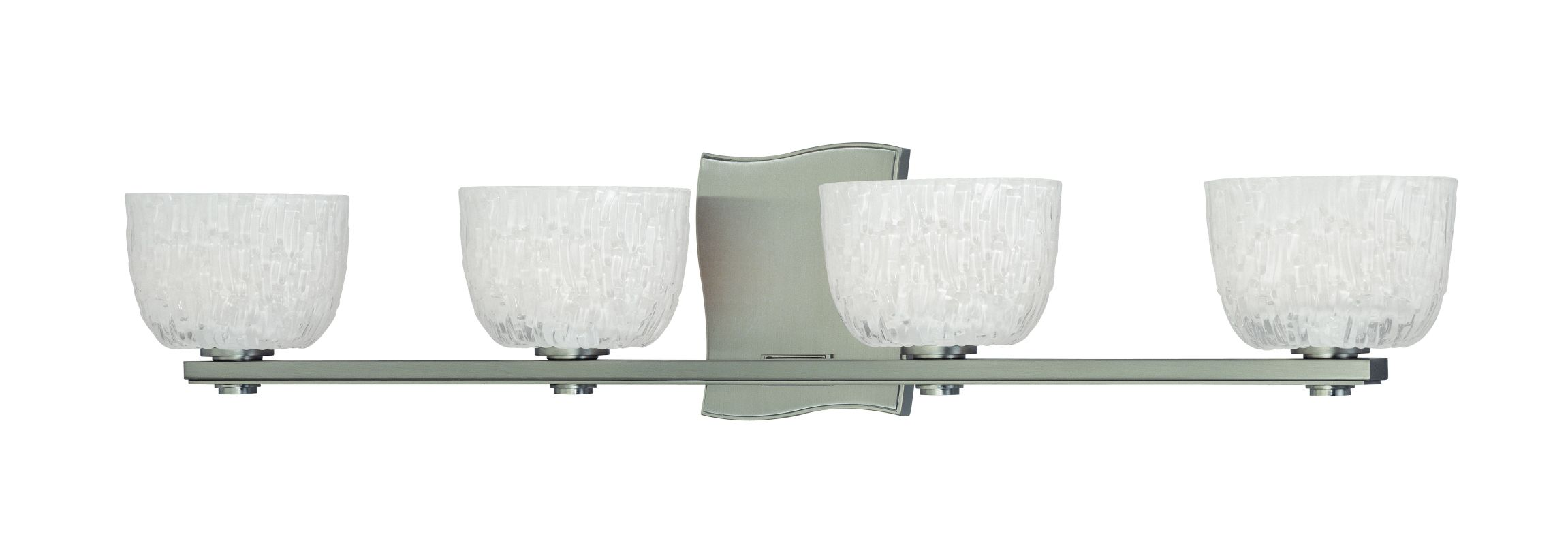 "Hudson Valley Lighting 2664 Four Light Up Lighting Bath Vanity with Sale $482.00 ITEM: bci1737239 ID#:2664-SN UPC: 806134123529 Transitional Four Light Up Lighting Bath Vanity with Bowl Shaped Shades from the Cove Neck Collection Cove Neck Collection Four Light Up Lighting Bath Vanity with Bowl Shaped Shades. Features: Bowl Shaped Shades May only be mounted up-lighting. Specifications: Requires (4) 75W Xenon G9 Based Bulbs (Included) Height: 5.5"" Width: 27.25"" Extension: 4.25"" Wall Plate Dimensions: 4.5""W x 5.5""H :"