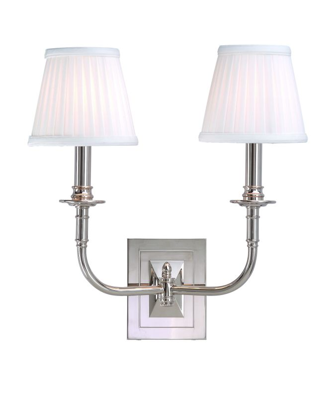 Hudson Valley Lighting 2702 Two Light Wall Sconce from the Lombard Sale $320.00 ITEM: bci525112 ID#:2702-PN UPC: 806134013202 :