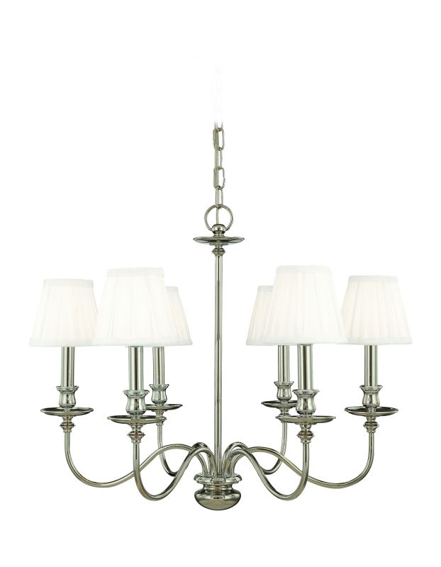 Hudson Valley Lighting 4036 Six Light Chandelier from the Menlo Park Sale $1178.00 ITEM: bci525151 ID#:4036-PN UPC: 806134008468 :