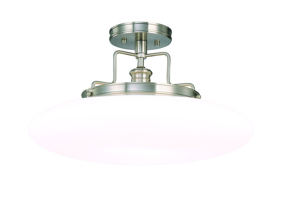 Hudson Valley 4208-PN Polished Nickel Industrial Beacon Ceiling Light