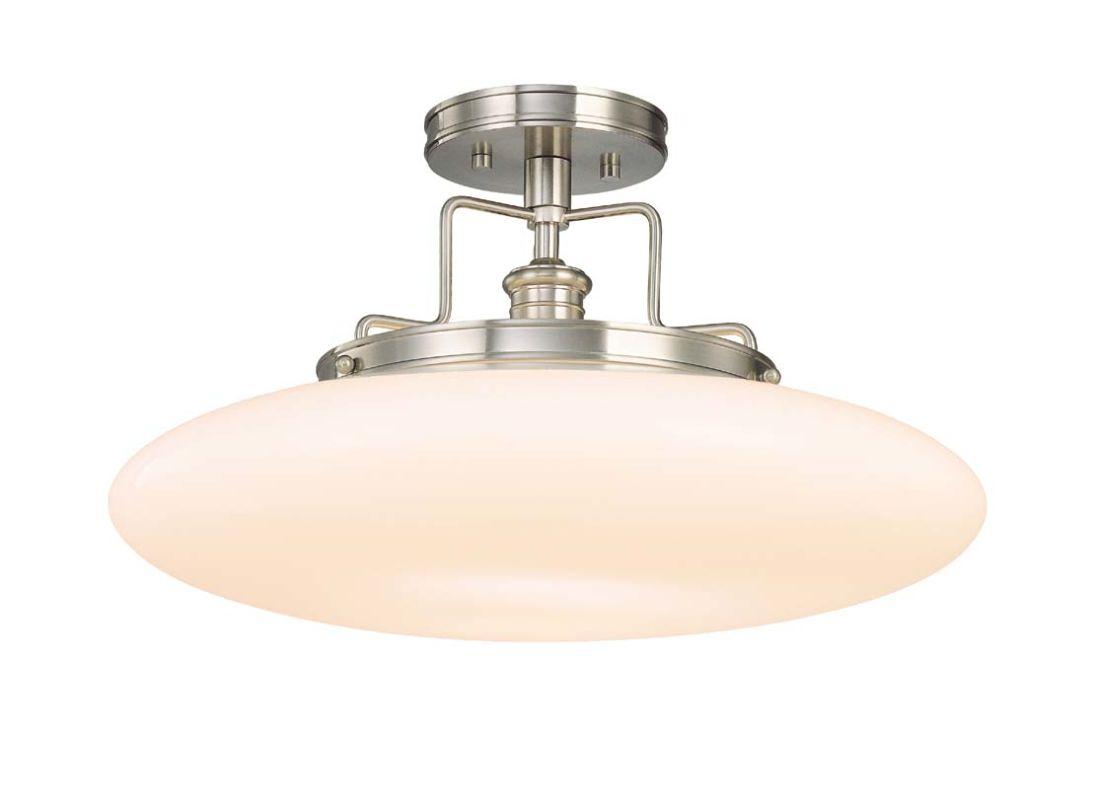 Hudson Valley 4208-SN Satin Nickel Industrial Beacon Ceiling Light