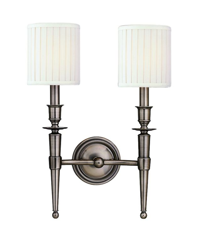 Hudson Valley Lighting 4902 Abington 2 Light Double Wall Sconce with Sale $386.00 ITEM: bci525167 ID#:4902-AN UPC: 806134026837 :