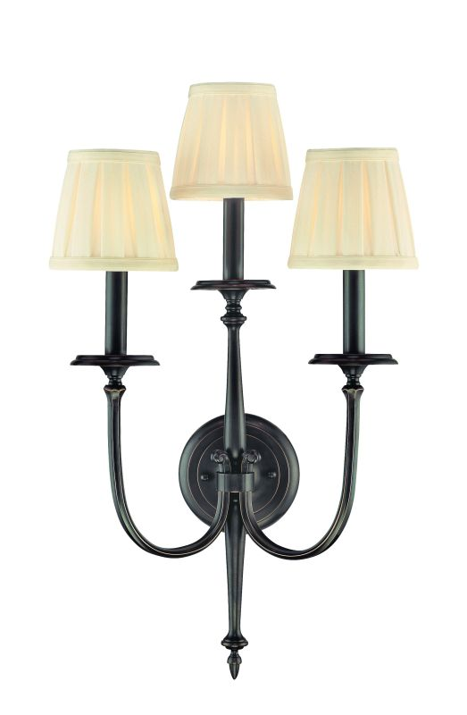 Hudson Valley Lighting 5203 Three Light Wall Sconce from the Jefferson Sale $632.00 ITEM: bci982725 ID#:5203-OB UPC: 806134098230 :