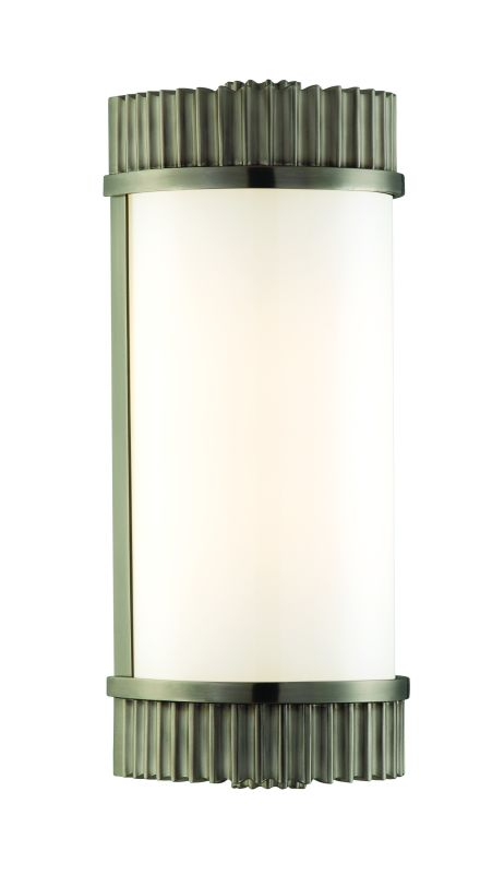 """Hudson Valley Lighting 561 Single Light Up / Down Lighting Brass Wall Sale $450.00 ITEM: bci1737478 ID#:561-AN UPC: 806134112929 Traditional / Classic Single Light Up / Down Lighting Brass Wall Sconce with Glass Cylinder Shade from the Benton Collection Benton Collection Single Light Up / Down Lighting Brass Wall Sconce with Glass Cylinder Shade. Features: Glass Cylinder Shade May be mounted vertically or horizontally. ADA Compliant Solid Brass Construction Specifications: Requires (1) 60W Medium T10 Based Bulb (Not Included) Height: 12.5"""" Width: 5"""" Extension: 4"""" :"""