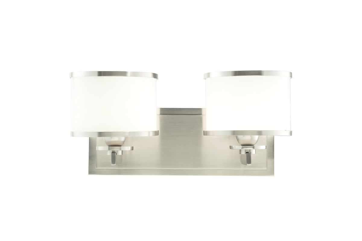 Hudson Valley 6102 Nickel Contemporary Aberdeen Bathroom Light