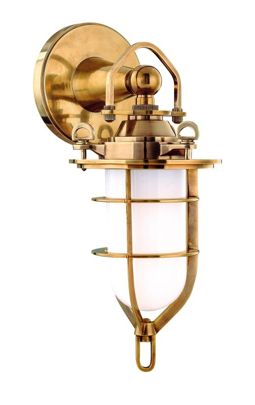 Hudson Valley 6501-AGB Aged Brass Industrial New Canaan Wall Sconce