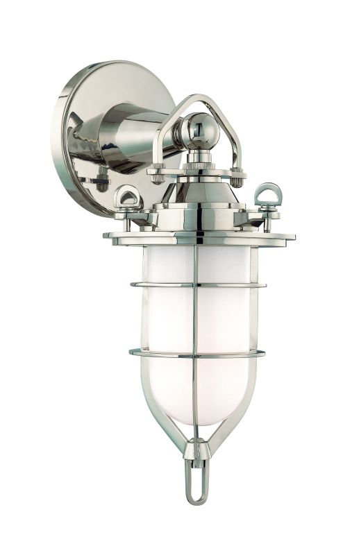 Hudson Valley 6501-PN Nickel Industrial New Canaan Wall Sconce